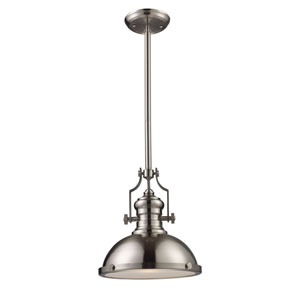 Chadwick Satin Nickel 14-Inch One Light Pendant
