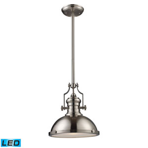 Chadwick Satin Nickel 13-Inch LED One Light Pendant