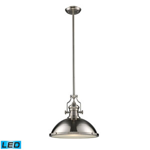 Chadwick Satin Nickel 17-Inch LED One Light Pendant