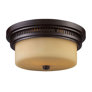 Chadwick Oiled Bronze 5-Inch Two Light Flush Mount Fixture