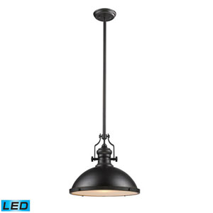 Chadwick Oiled Bronze 17-Inch LED One Light Pendant