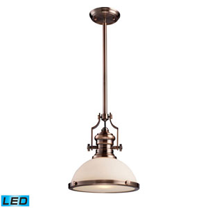 Chadwick Antique Copper 14-Inch LED One Light Pendant