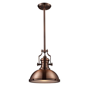 Chadwick Antique Copper 13-Inch One Light Pendant