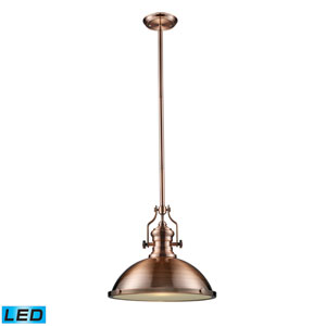 Chadwick Antique Copper 17-Inch LED One Light Pendant