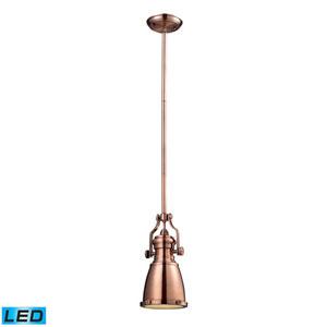 Chadwick Antique Copper 8-inch LED One Light Mini Pendant