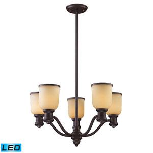 Brooksdale Oiled Bronze LED Five Light Chandelier