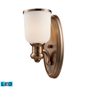 Brooksdale Antique Copper LED Wall Sconce