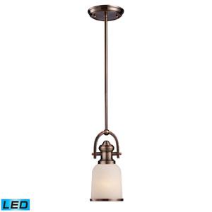 Brooksdale Antique Copper LED One Light Mini Pendant