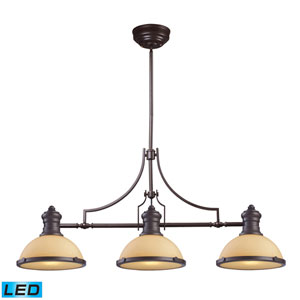 Chadwick Oiled Bronze 47-Inch LED Three Light Billiard and Island Light