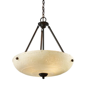 Restoration Pendants Aged Bronze 24-Inch Four Light Pendant