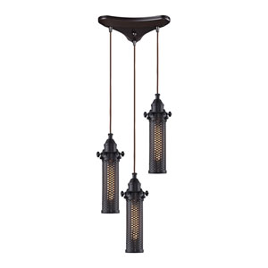 Fulton Oil Rubbed Bronze Three-Light Pendant