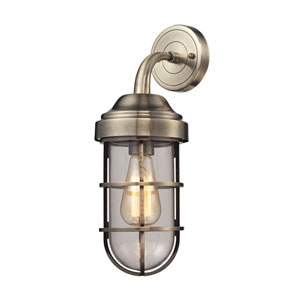 Seaport Antique Brass One-Light Wall Sconce