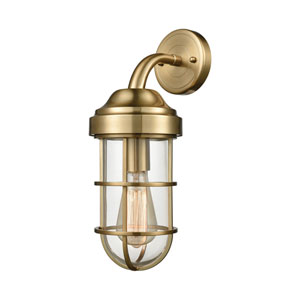 Seaport Satin Brass 6-Inch One-Light Wall Sconce