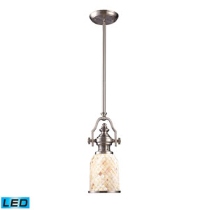 Chadwick Satin Nickel 6-Inch LED One Light Mini Pendant
