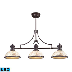 Chadwick Oiled Bronze LED Three Light Billiard and Island Light