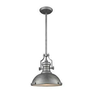 Chadwick Weathered Zinc 13-Inch One-Light Pendant