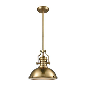 Chadwick Satin Brass 13-Inch One-Light Pendant