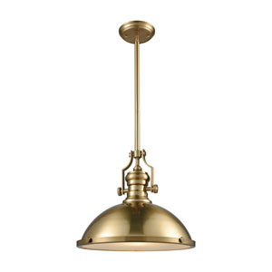Chadwick Satin Brass 17-Inch One-Light Pendant