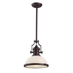 Oiled Bronze 13-Inch One-Light Pendant