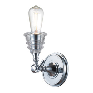 Insulator Glass Polished Chrome 8-Inch One Light Wall Sconce