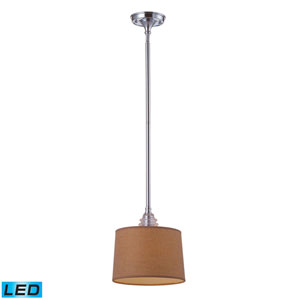 Insulator Glass Polished Chrome LED One Light Pendant