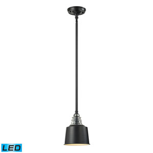 Insulator Glass Oiled Bronze 10-Inch LED One Light Mini Pendant