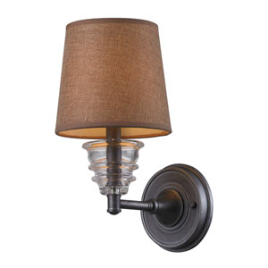 Insulator Glass Weathered Zinc 13-Inch One Light Wall Sconce