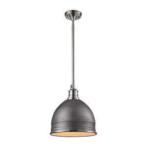 Carolton Polished Nickel 13-Inch One-Light Pendant
