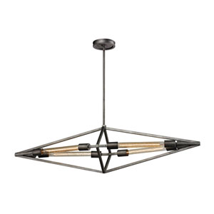 Laboratory Weathered Zinc Four-Light Pendant