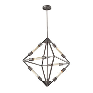 Laboratory Weathered Zinc Six-Light Pendant