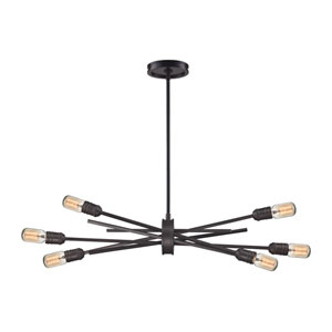Xenia Oil Rubbed Bronze Six-Light Pendant