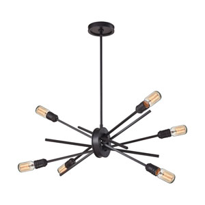 Xenia Oil Rubbed Bronze 18-Inch Six-Light Chandelier