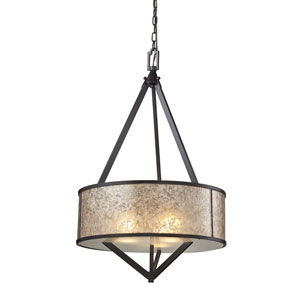 Mica Oil Rubbed Bronze Three-Light Pendant