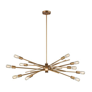 Xenia Matte Gold 40-Inch Ten-Light Chandelier