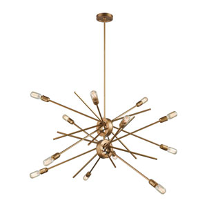 Xenia Matte Gold 42-Inch Twelve-Light Chandelier