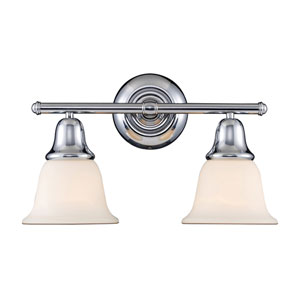 Berwick Polished Chrome Two Light Bath Fixture