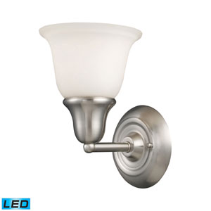 Berwick Brushed Nickel LED One Light Bath Fixture