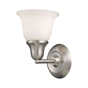 Berwick Brushed Nickel One Light Bath Fixture
