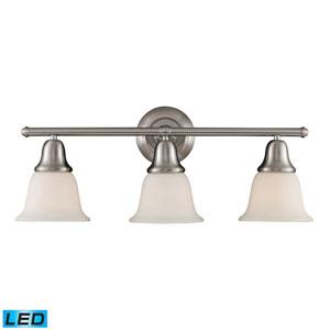 Berwick Brushed Nickel LED Three Light Bath Fixture