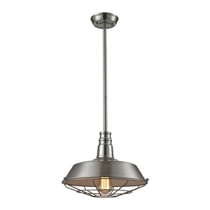 Satin Nickel One-Light Pendant