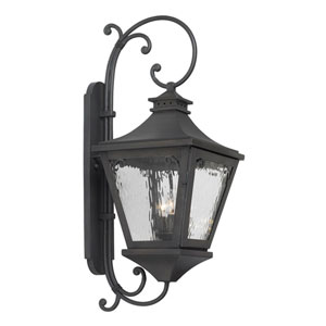Manor Charcoal Three Light Outdoor Sconce