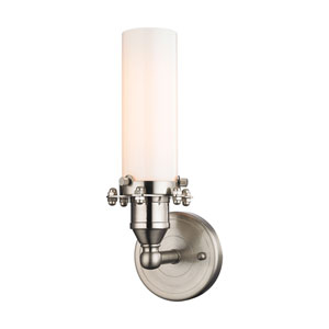 Fulton Satin Nickel 4-Inch One-Light Wall Sconce