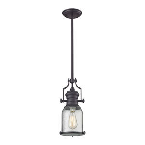 Chadwick Oil Rubbed Bronze 8-Inch One-Light Pendant