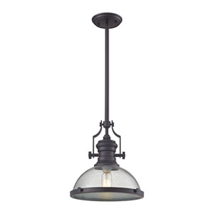 Chadwick Oil Rubbed Bronze 13-Inch One-Light Pendant