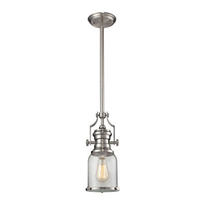 Chadwick Satin Nickel 8-Inch One-Light Pendant
