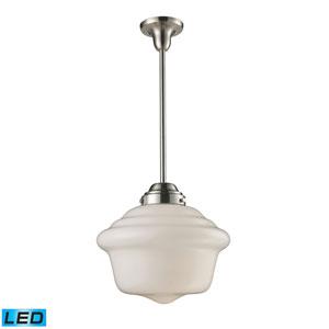 Schoolhouse Pendants Satin Nickel 15-Inch LED One Light Pendant