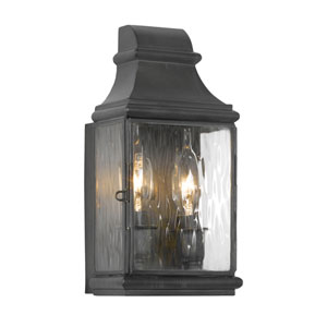 Jefferson Charcoal 10.5-Inch Two Light Outdoor Wall Sconce