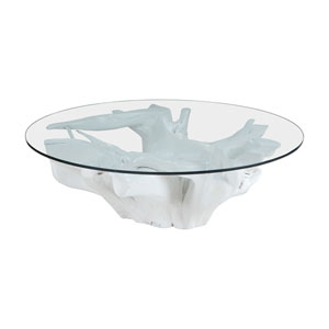 Teak Furniture White Coffee Table