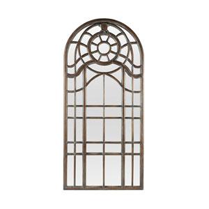 Ansonia Dark Grey 90 x 42-Inch Arched Mirror