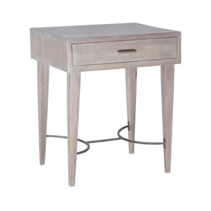 Empire Restoration Grey One-Drawer Side Table